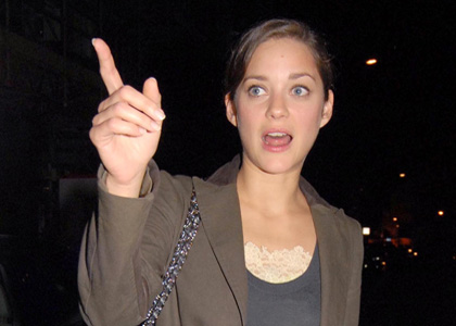 Marion Cotillard Leaving The Cipriani Restaurant (USA AND OZ ONL