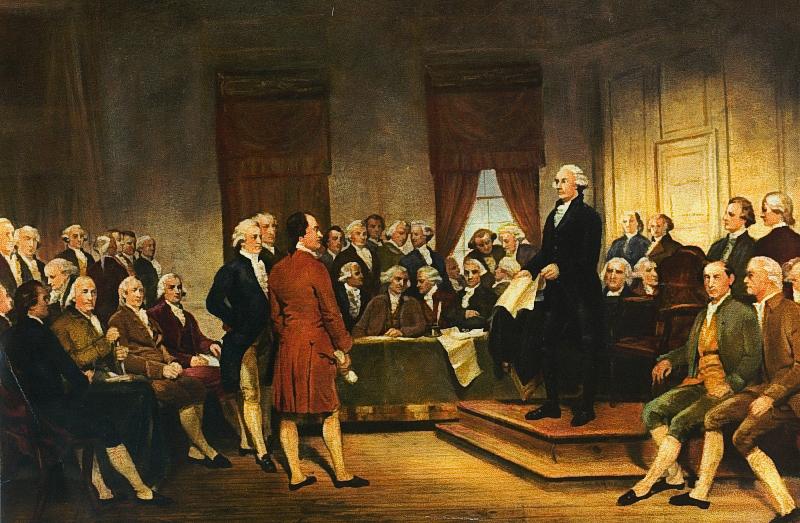 Julius Brutus Stearns: Firma de la Constitución de Estados Unidos,  1856.