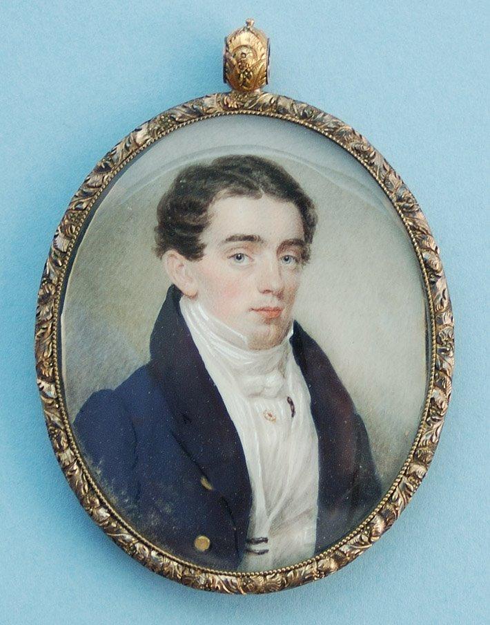 Sarah Goodridge: Retrato de un caballero. Metropolitan Museum of Art, Nueva York.