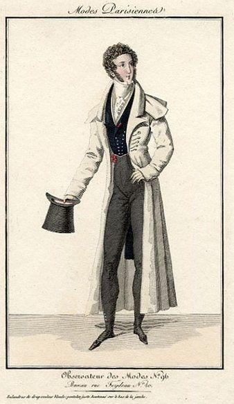 Un caballero a la moda de 1820 (Pinterest).