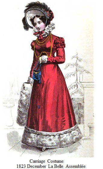 Una dama a la moda de 1823 (Pinterest).