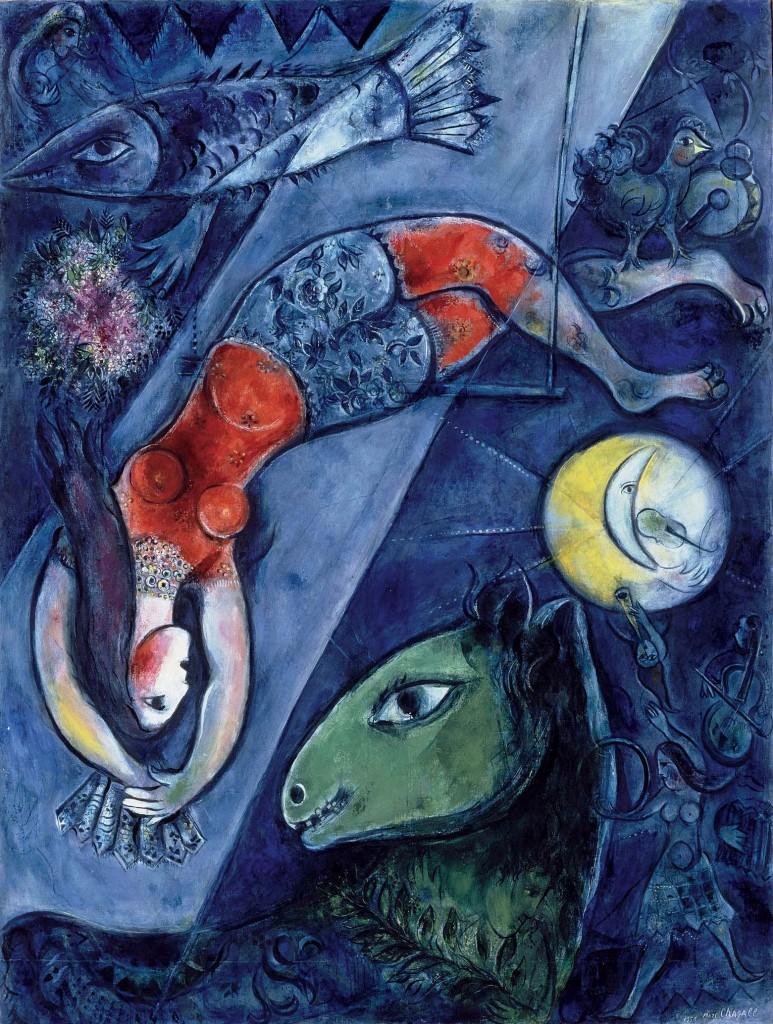Pintura de Chagall.