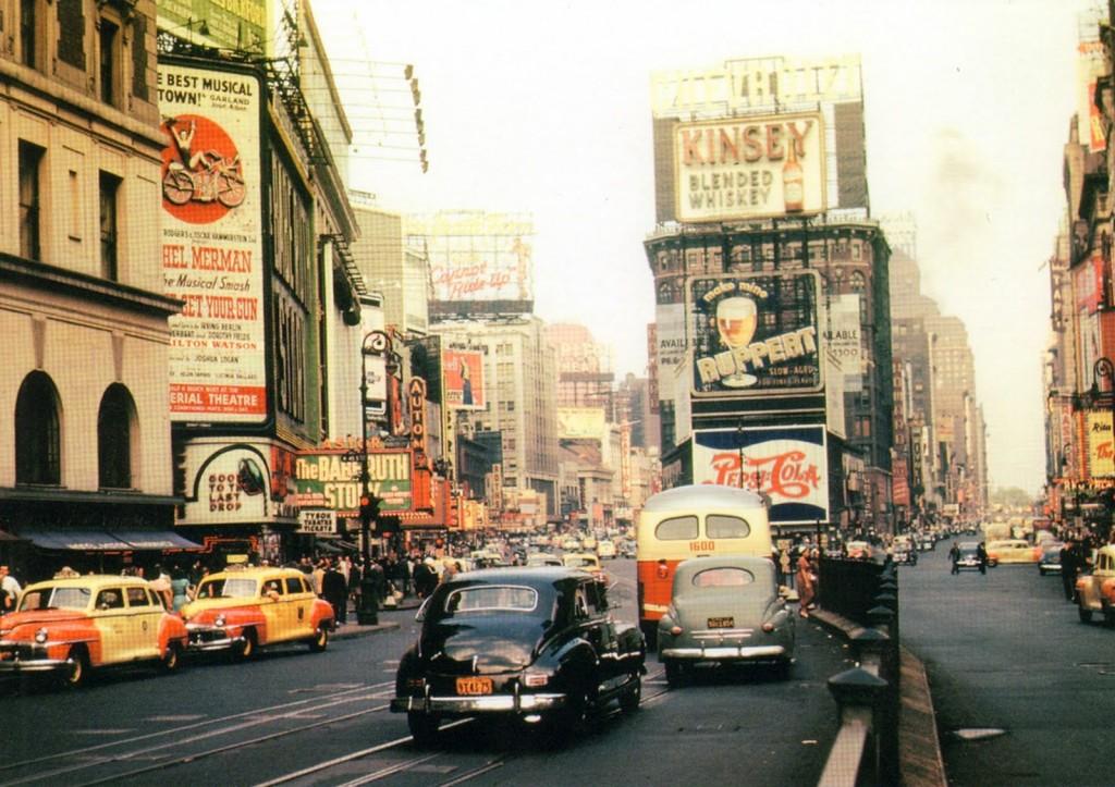 Times Square, en 1940.