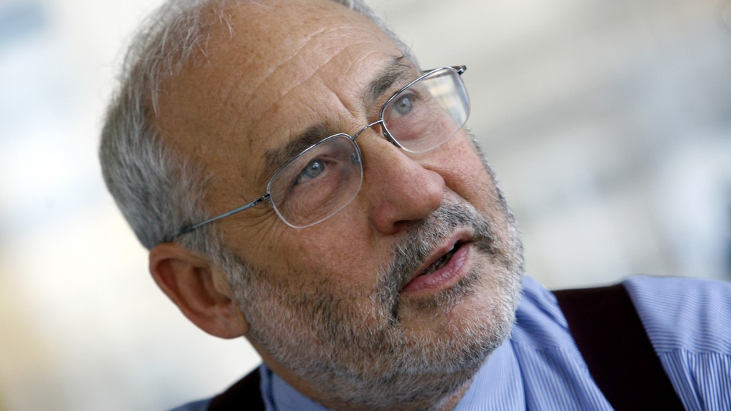 Economist and Nobel laureate Joseph Stiglitz Economist during interview with Reuters