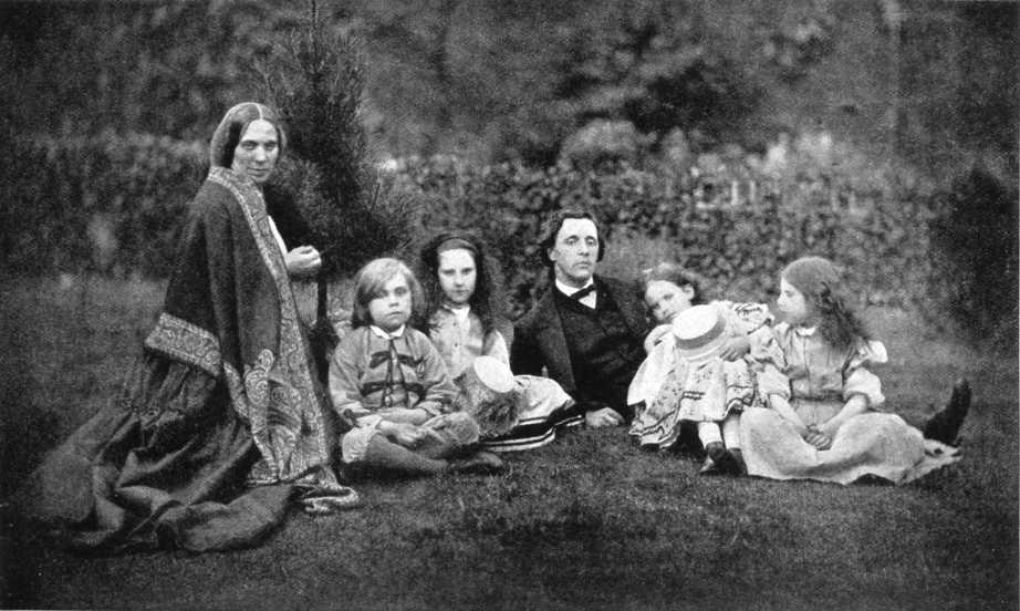 Lewis-Carroll-en-el-campo-con-Alicia-y-sus-hermanas
