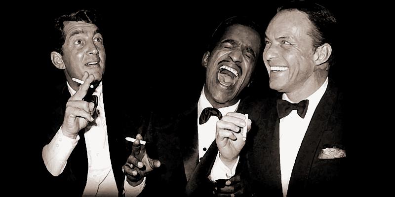 Dean Martin, Sammy Davis Jr y Frank Sinatra