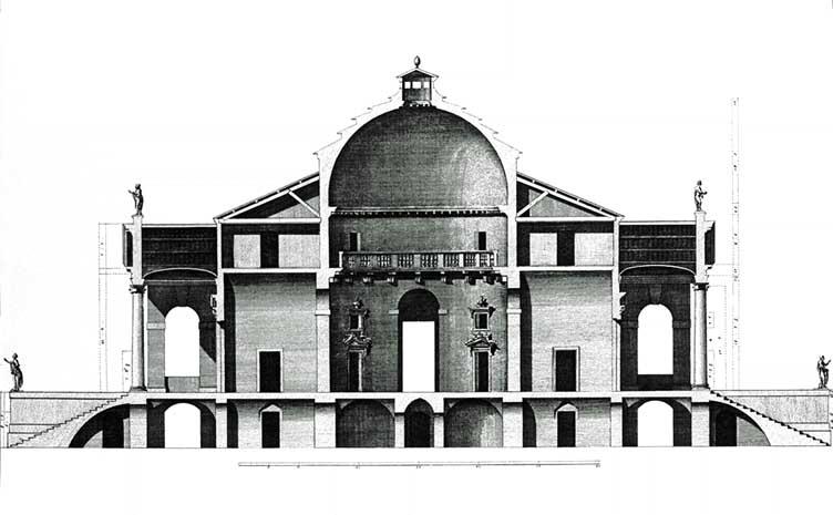 Palladio_Rotonda_seccion_Scamozzi_1778