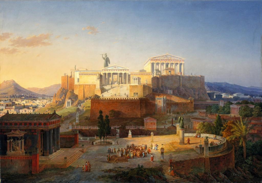 La ciudad de la diosa atenea