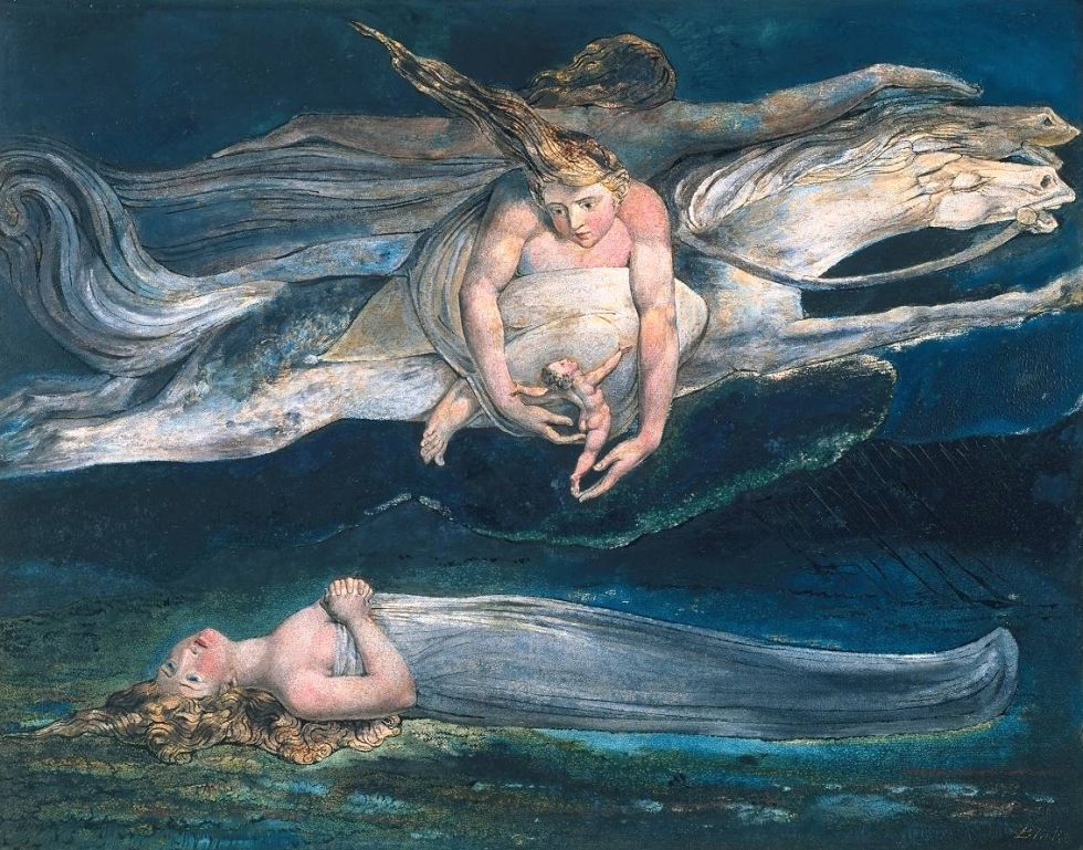 'Pity' (1795), de William Blake. Cuadro basado en 'Macbeth'.