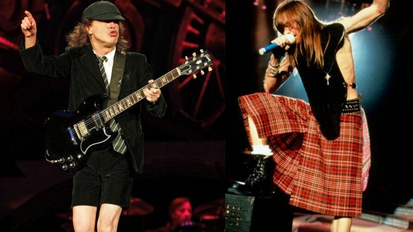 Brian Johnson y Axl Rose