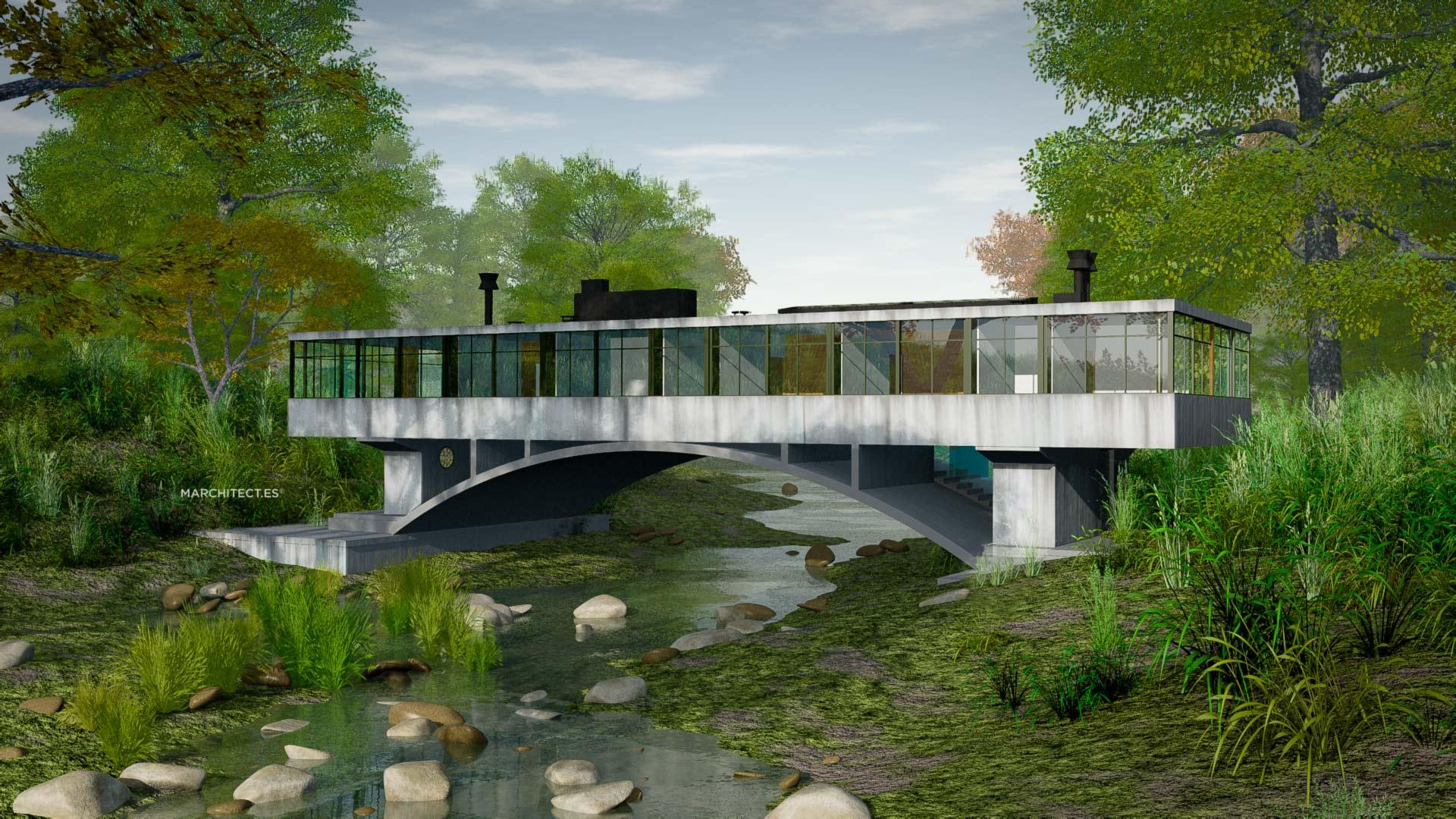 Amancio williams y la casa del puente 1943 hyperbole - La casa del puente regules ...