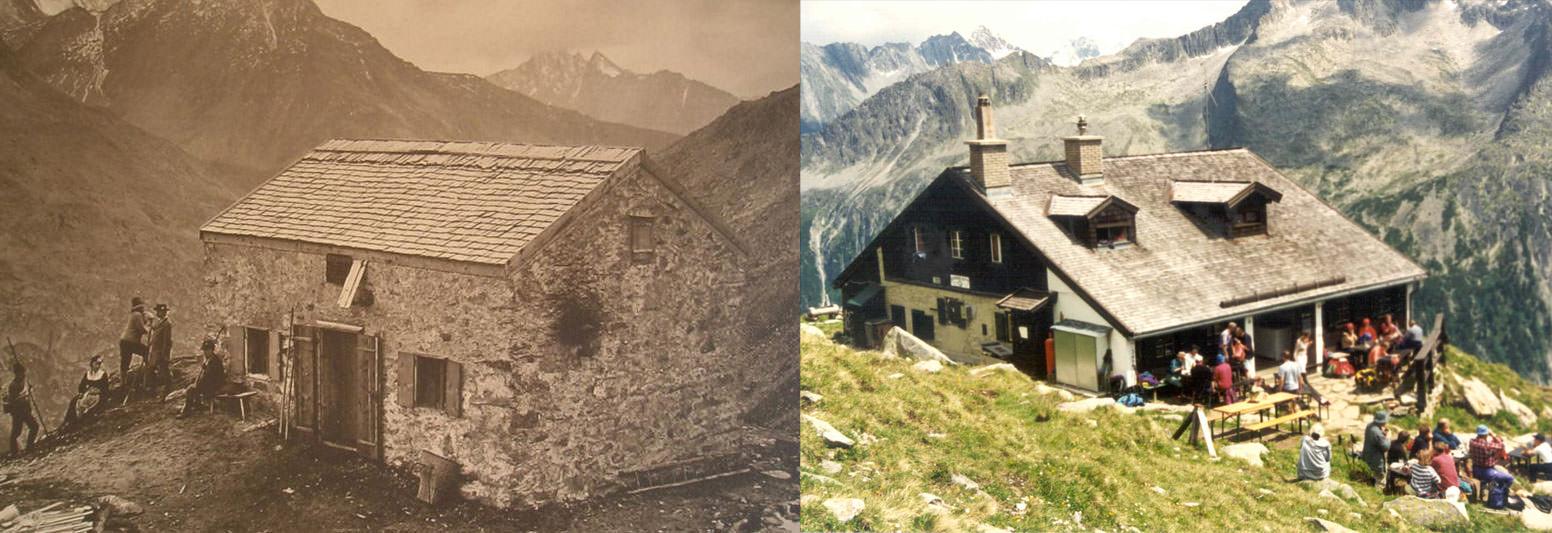 despus de cien aos expuesto a las extremas condiciones de los alpes el antiguo olpererhtte a metros de altura sobre el stausee
