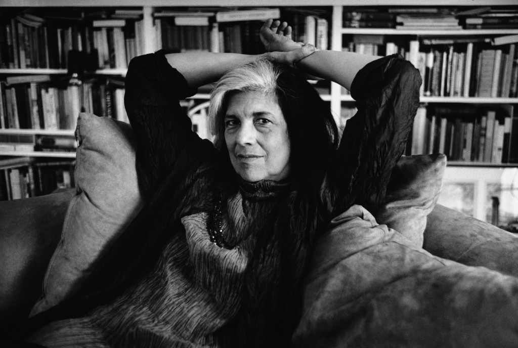 Susan Sontag Relaxing on a Sofa