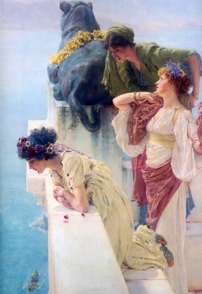 'A coign of vantage', de Lawrence Alma-Tadema.