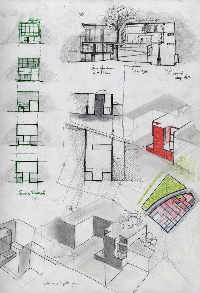Le corbusier casa curutchet la plata 1949 hyperbole - Casas de le corbusier ...